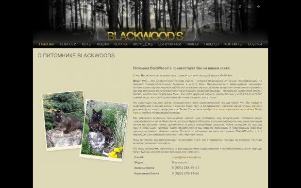 "Питомник ""blackwoods"" (Москва) - ООО Автоматизация - 1С франчайзи - Битрикс"