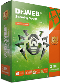 Dr.WEB Security Space 2 ПК / 25 месяцев